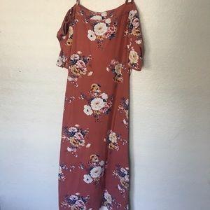 Blush rose patterned dress